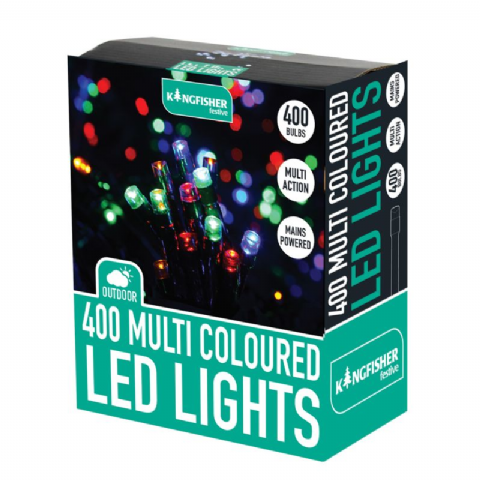 Multi Colour Indoor & Outdoor 400 LED Multi Action Christmas Tree Lights